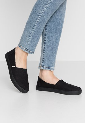 VEGAN ALPARGATA - Mocassins - black