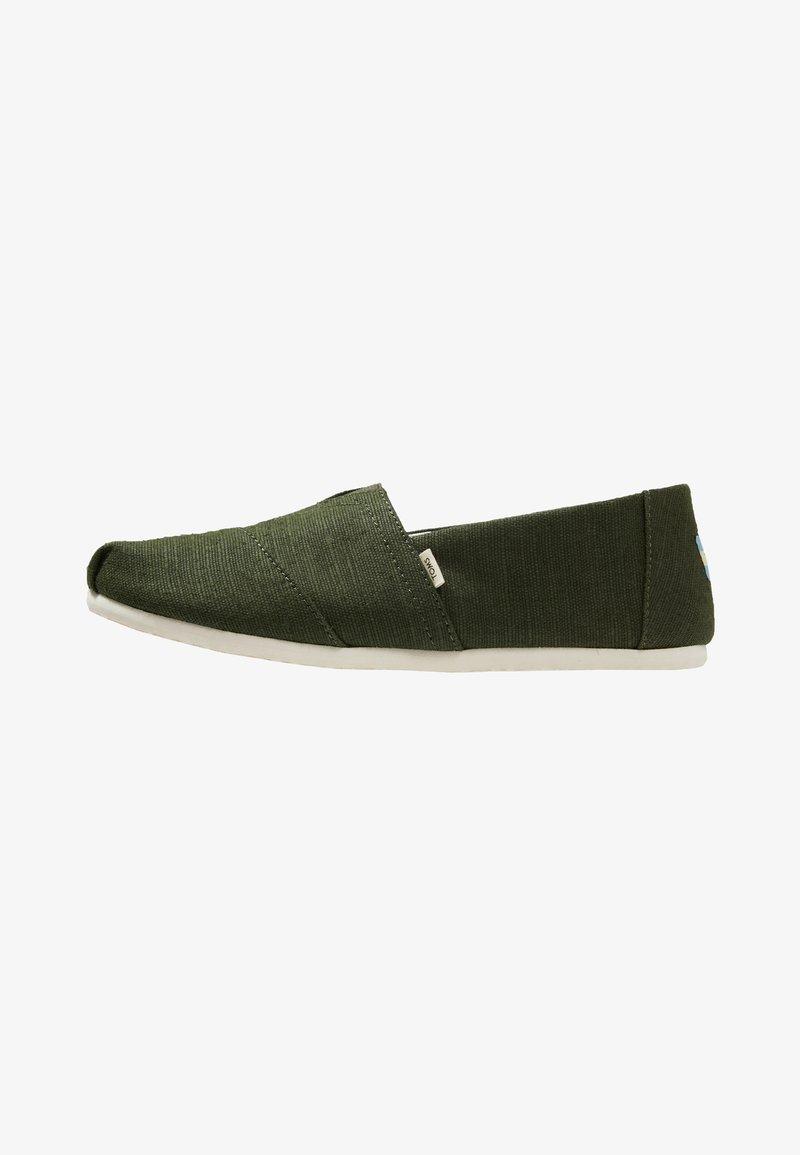 TOMS - ALPARGATA - Nazouvací boty - green