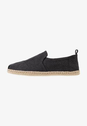 DECONSTRUCTED ALPARGATA ROPE - Espadrilky - black