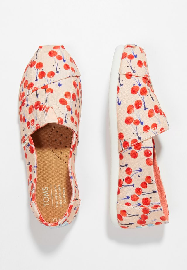 ALPARGATA - Nazouvací boty - coral pink/cherry cherie
