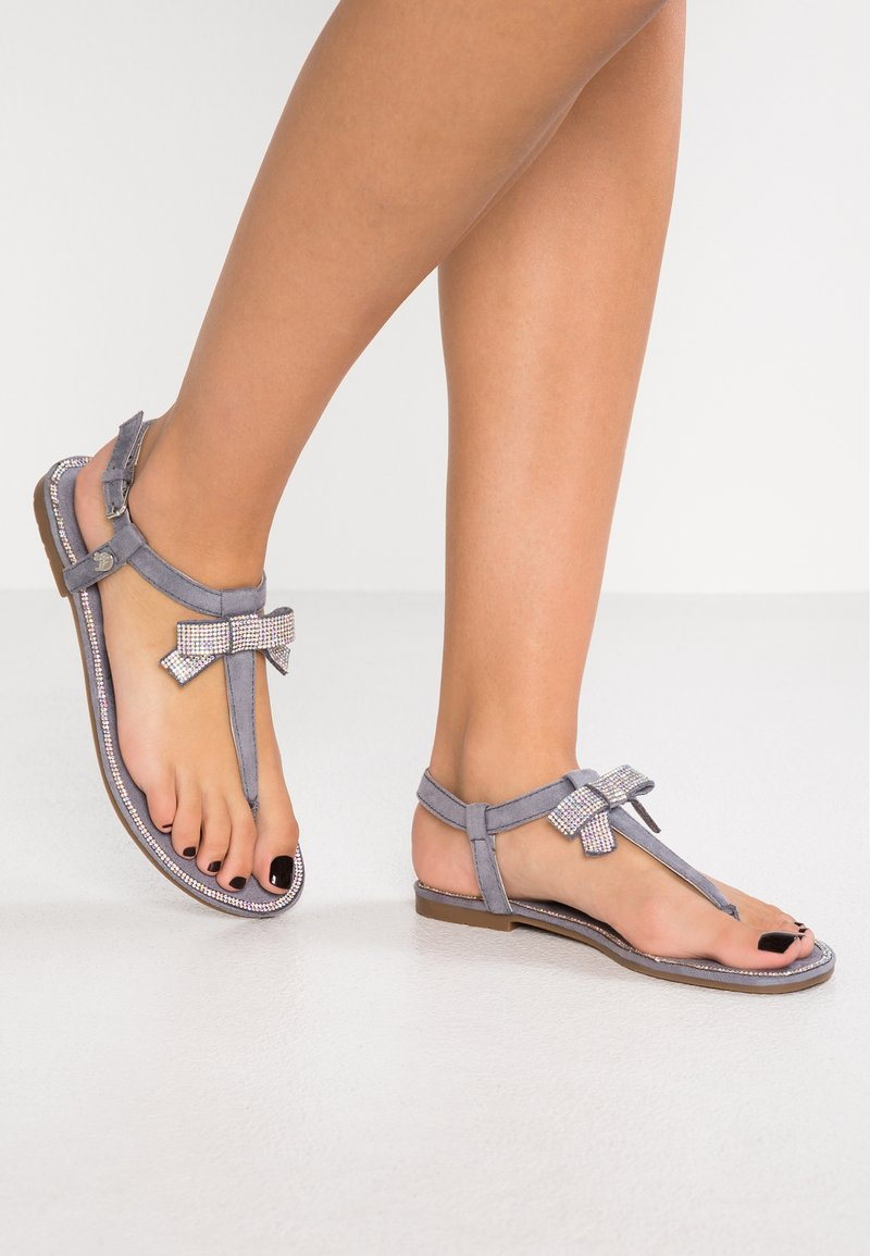 TOM TAILOR DENIM - T-bar sandals - jeans