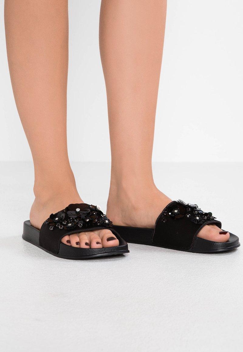 TOM TAILOR DENIM - Pantolette flach - black