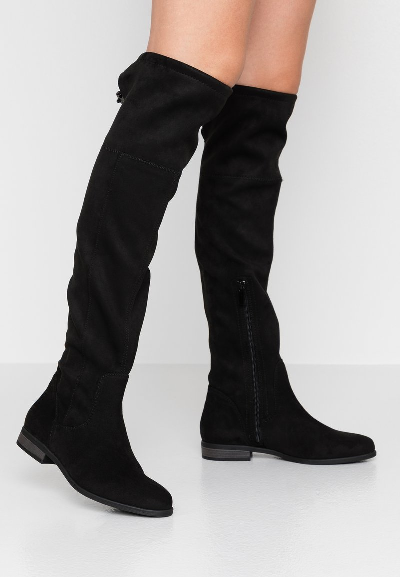 TOM TAILOR DENIM - Over-the-knee boots - black