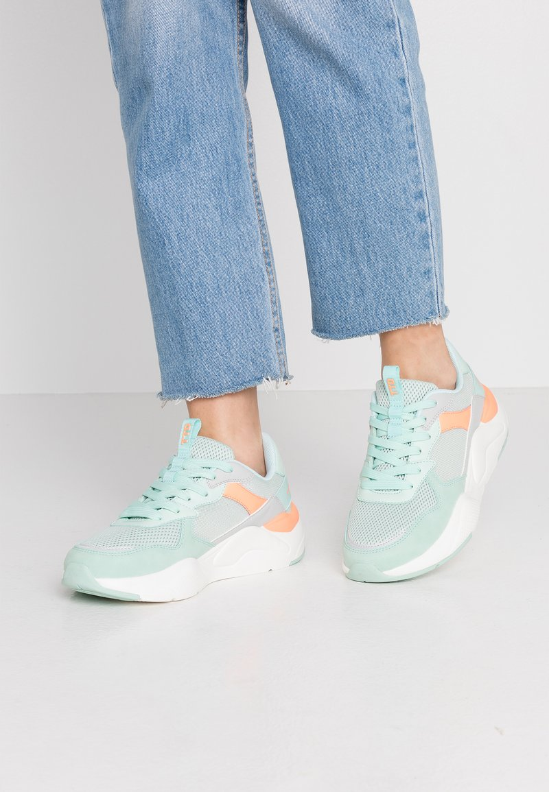 TOM TAILOR DENIM - Trainers - mint/coral