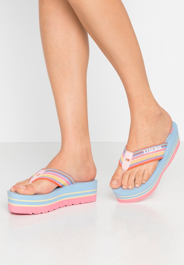 T-bar sandals - blue/rose