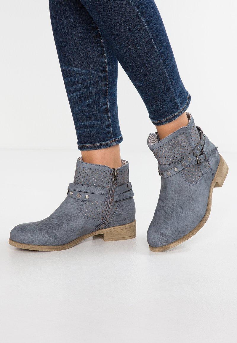TOM TAILOR DENIM - Ankelstøvler - jeans