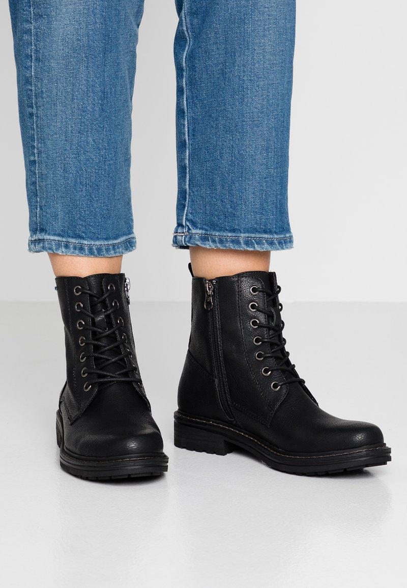 TOM TAILOR DENIM - Bottines à lacets - black