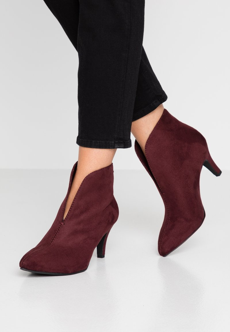 TOM TAILOR DENIM - Ankle boots - oxblood