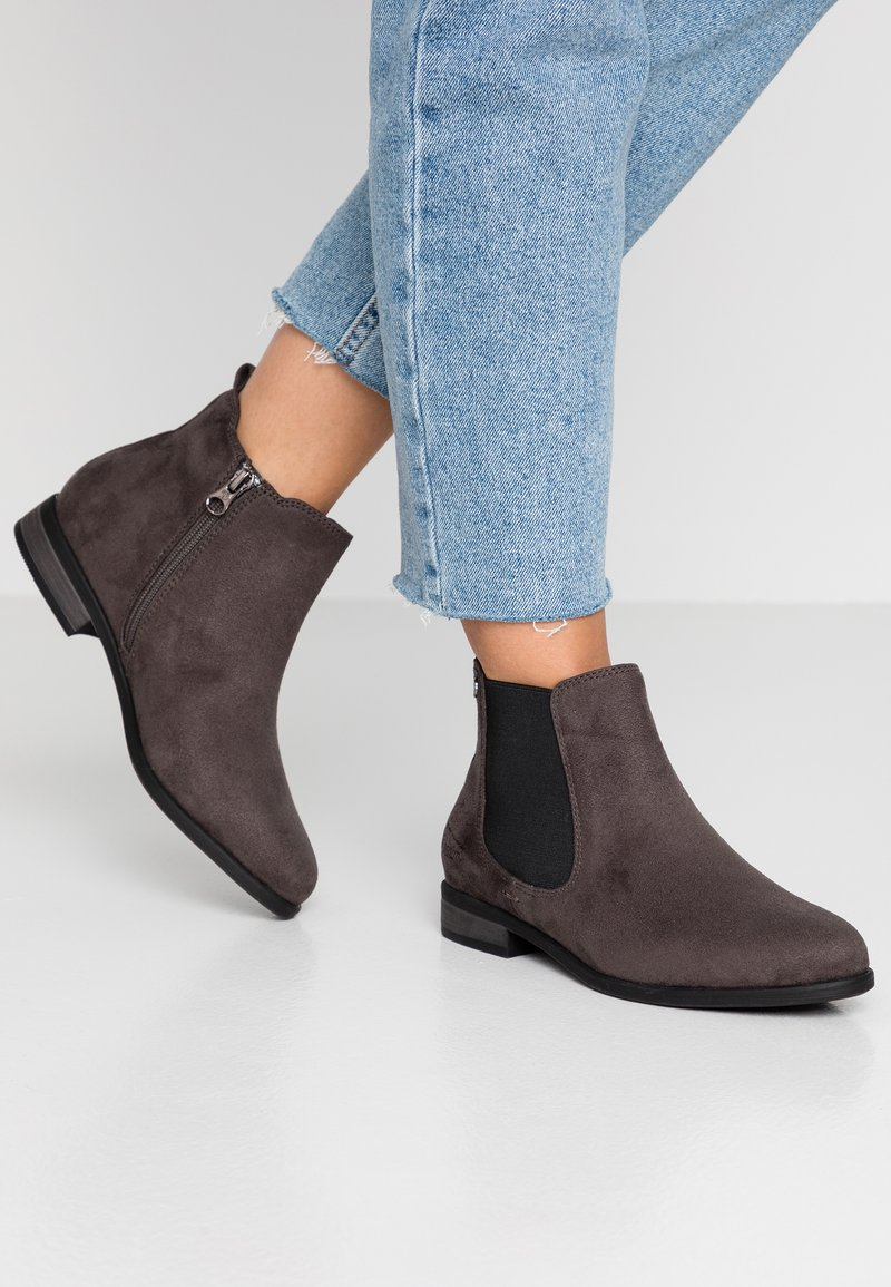 TOM TAILOR DENIM - Ankle Boot - coal