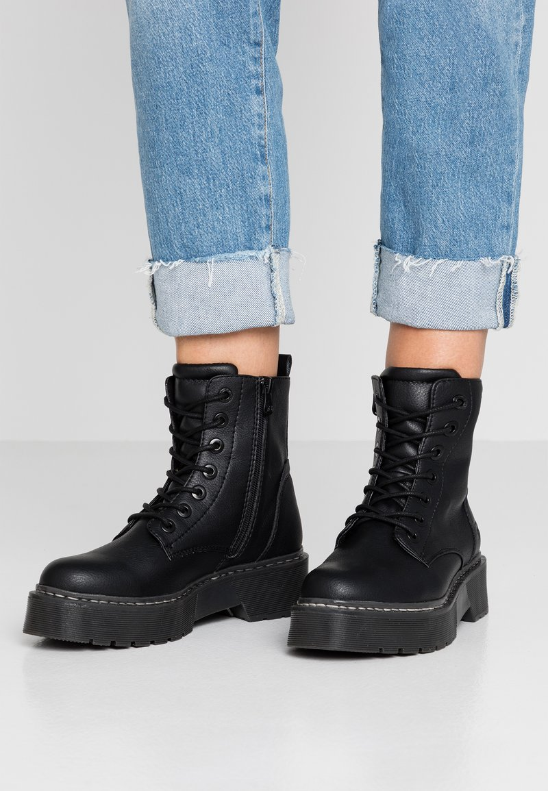 TOM TAILOR DENIM - Platform ankle boots - black