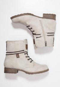 TOM TAILOR DENIM - Šněrovací kotníkové boty - offwhite - 3