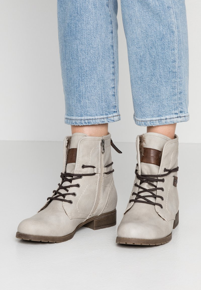 TOM TAILOR DENIM - Šněrovací kotníkové boty - offwhite