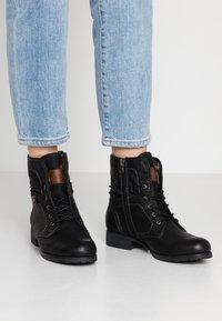 TOM TAILOR DENIM - Lace-up ankle boots - black - 0