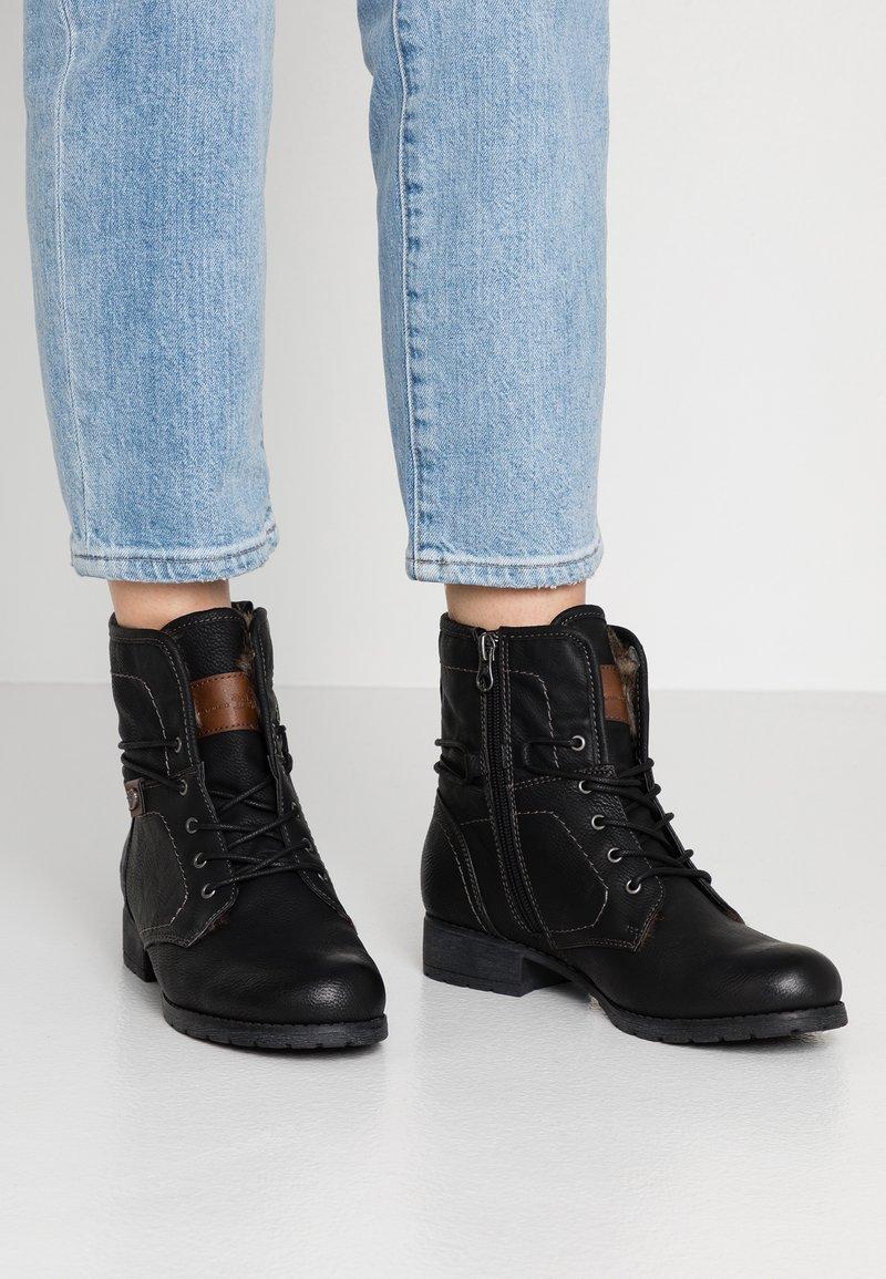TOM TAILOR DENIM - Lace-up ankle boots - black
