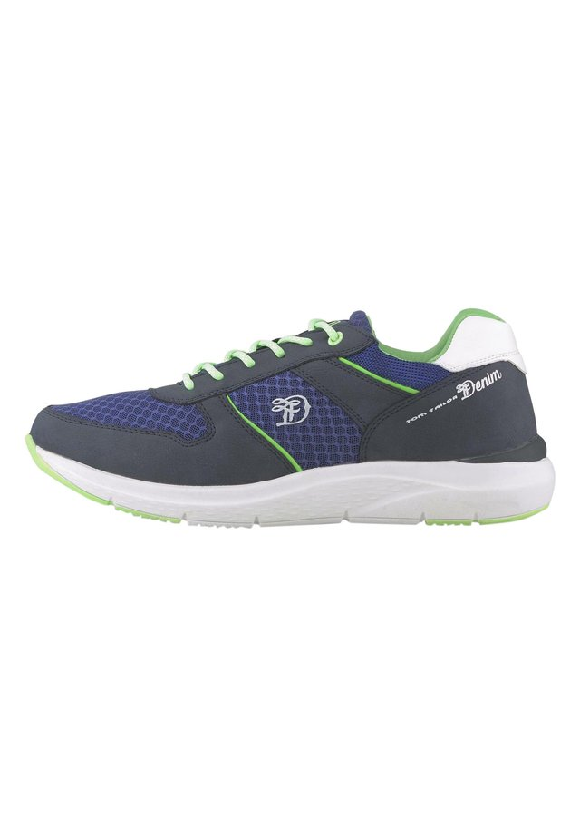 Trainers - navy-neon green