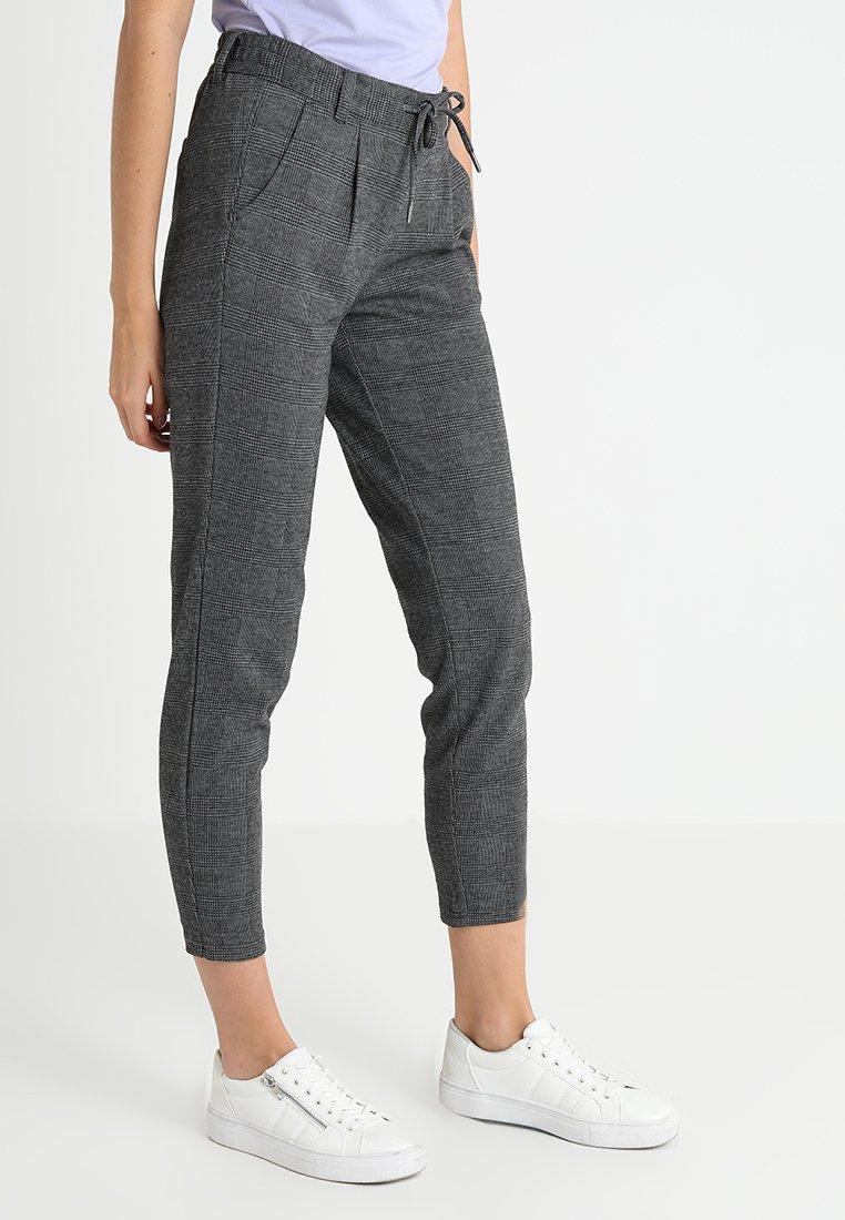 TOM TAILOR DENIM - CHECKED COSY PANTS - Pantaloni - cosy grey melange