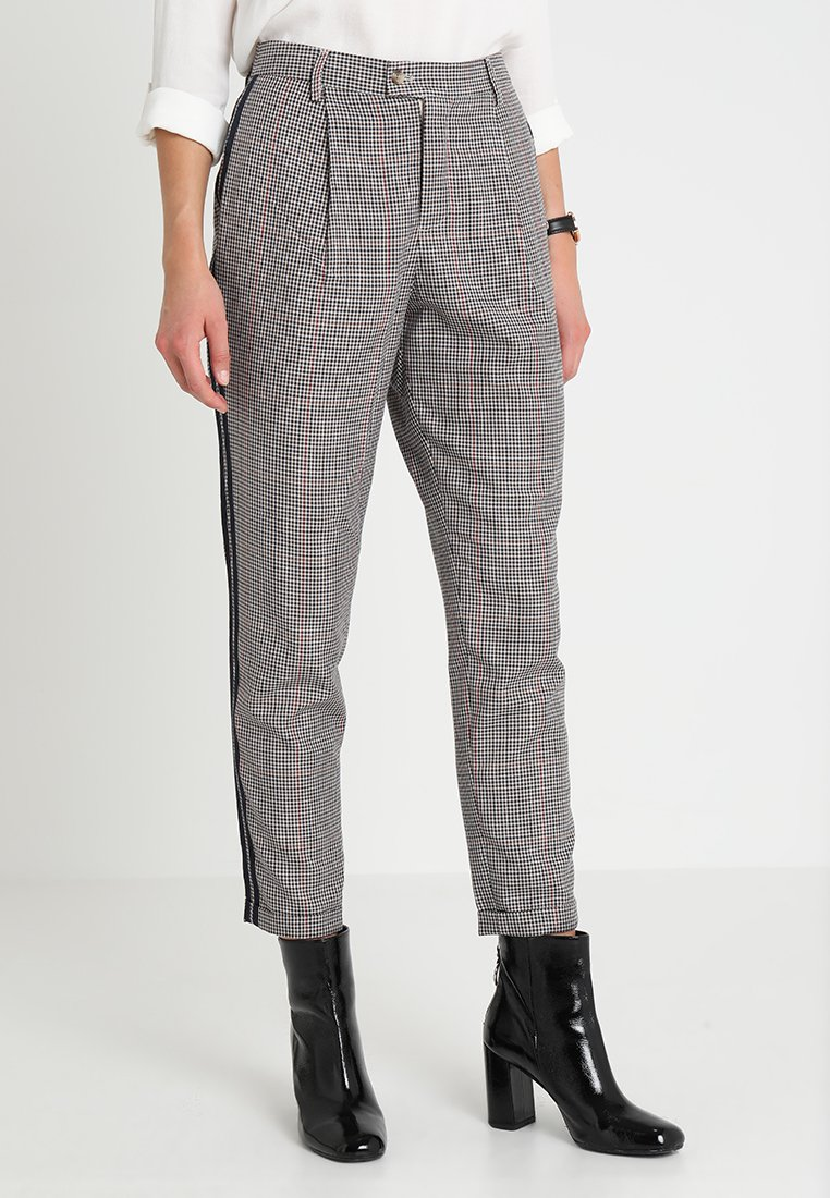 TOM TAILOR DENIM - CHECKED TAPERED PANTS - Kalhoty - sartorial check
