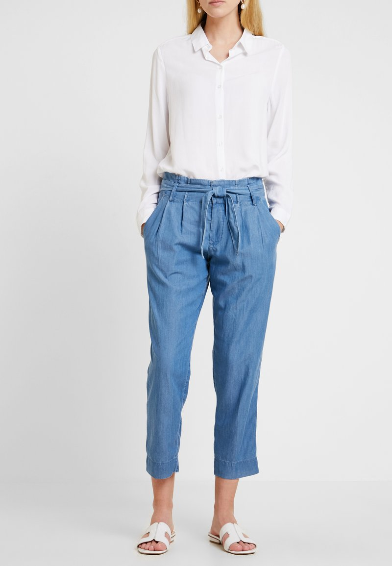 TOM TAILOR DENIM - PANTS - Pantaloni - mid stone wash denim