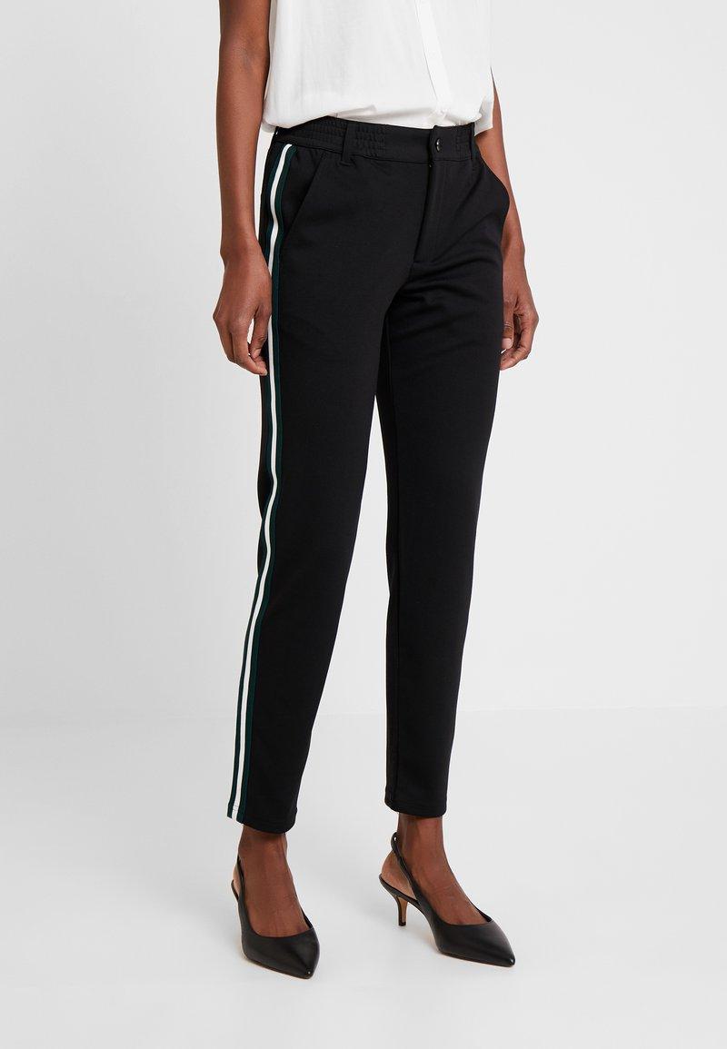 TOM TAILOR DENIM - ATHLETIC TRACK PANTS - Trousers - deep black