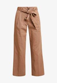 TOM TAILOR DENIM - STRAIGHT CULOTTE - Pantalon classique - warm beige                    brown - 3