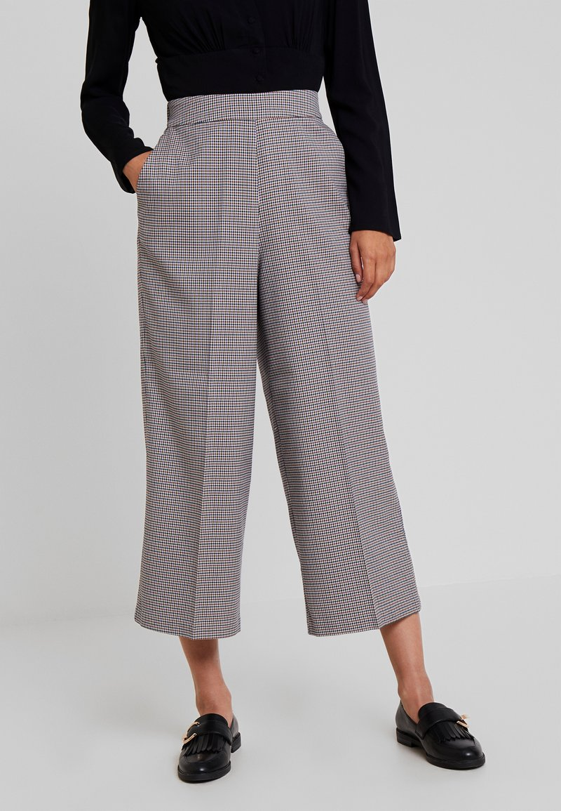 TOM TAILOR DENIM - CHECKED CULOTTE PANTS - Kalhoty - beige/brown
