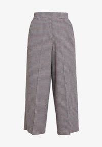 TOM TAILOR DENIM - CHECKED CULOTTE PANTS - Kalhoty - beige/brown - 3