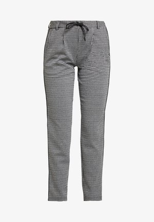 SOFT HOUNDSTHOOTH PANTS - Trousers - black/white