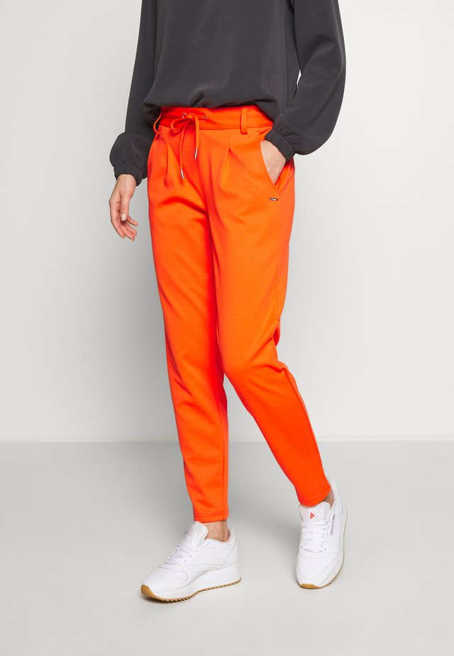 KNITTED TRACK PANTS - Pantalones - signal red