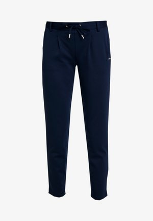 KNITTED TRACK PANTS - Spodnie materiałowe - real navy blue