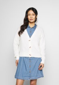 TOM TAILOR DENIM - BASIC CARDIGAN - Kardigan - gardenia white - 0