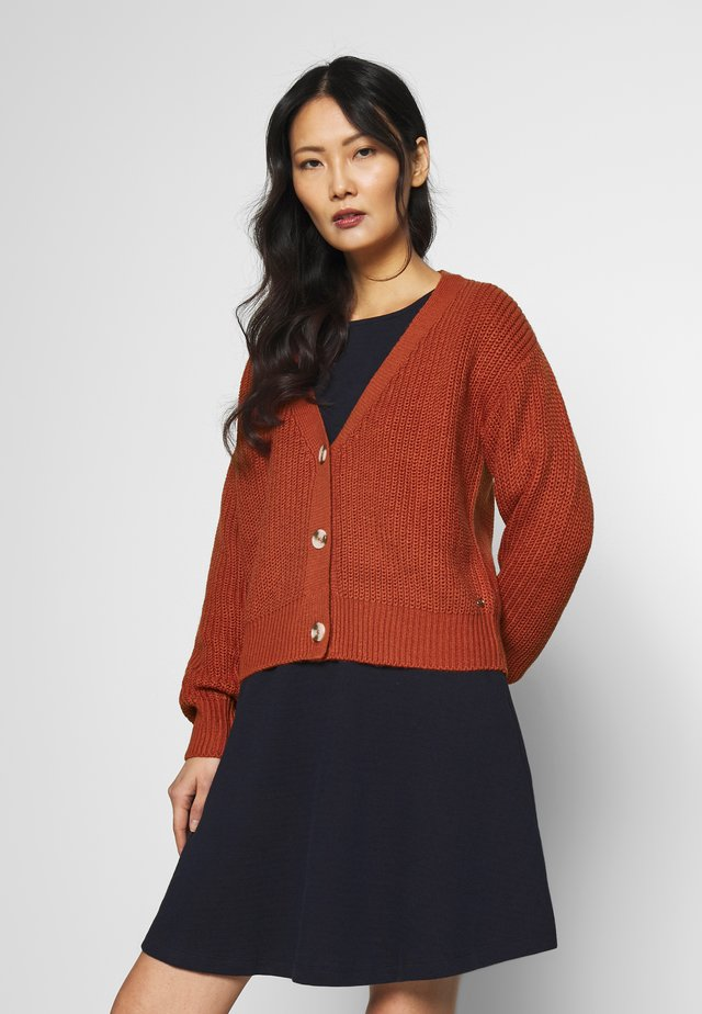BASIC CARDIGAN - Vest - fox orange