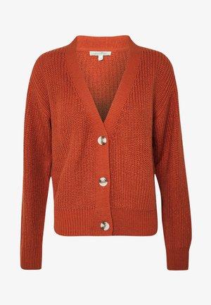 BASIC CARDIGAN - Cardigan - fox orange