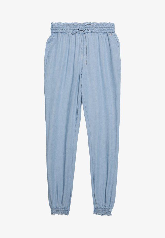 INDIGO HAREMS PANTS - Trousers - used light stone/blue denim