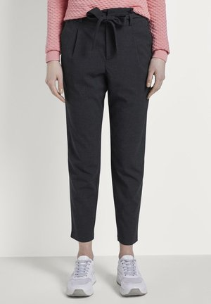 Trousers - navy structure