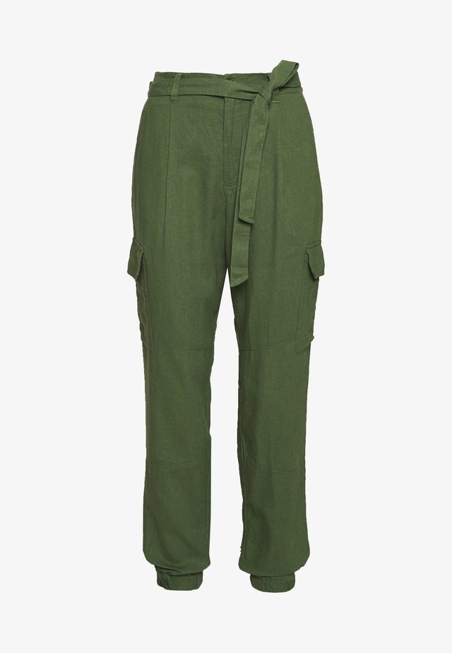 UTILITY RELAXED PANTS - Kalhoty - olive green