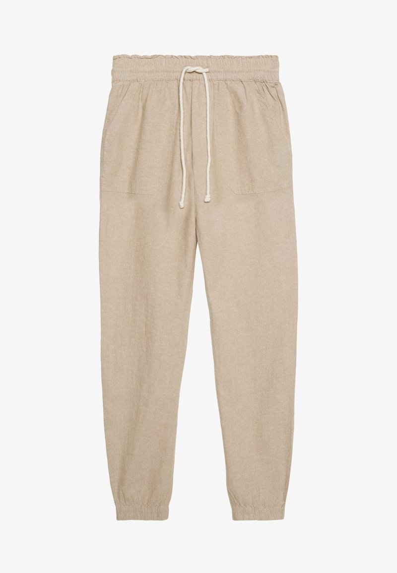 TOM TAILOR DENIM - RELAXED TRACKPANTS - Joggebukse - beige/white
