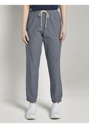 RELAXED TRACKPANTS - Tracksuit bottoms - mid blue white structure