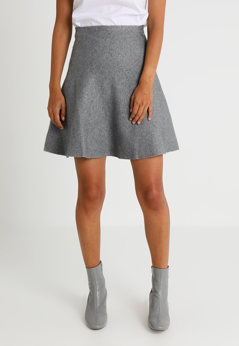 TOM TAILOR DENIM - SKATER SKIRT - A-line skirt - middle grey melange