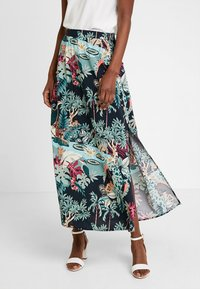 TOM TAILOR DENIM - SKIRT - Maxi sukně - colorful/green - 0