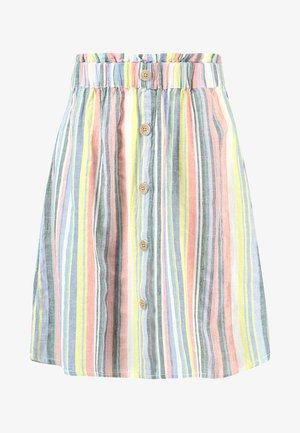 MINI SKIRT WITH BUTTON DETAIL - Áčková sukně - multicolor