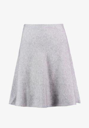 SKATER SKIRT - A-line skirt - light silver grey