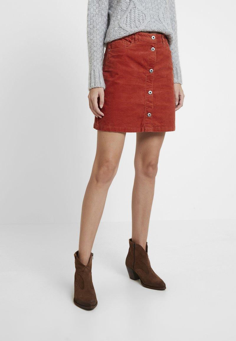 TOM TAILOR DENIM - A-line skirt - fox orange