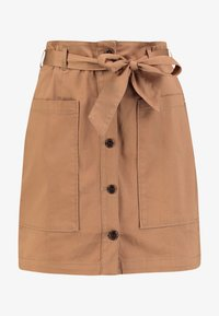 TOM TAILOR DENIM - UTILITY SKIRT - Áčková sukně - warm beige/brown - 3