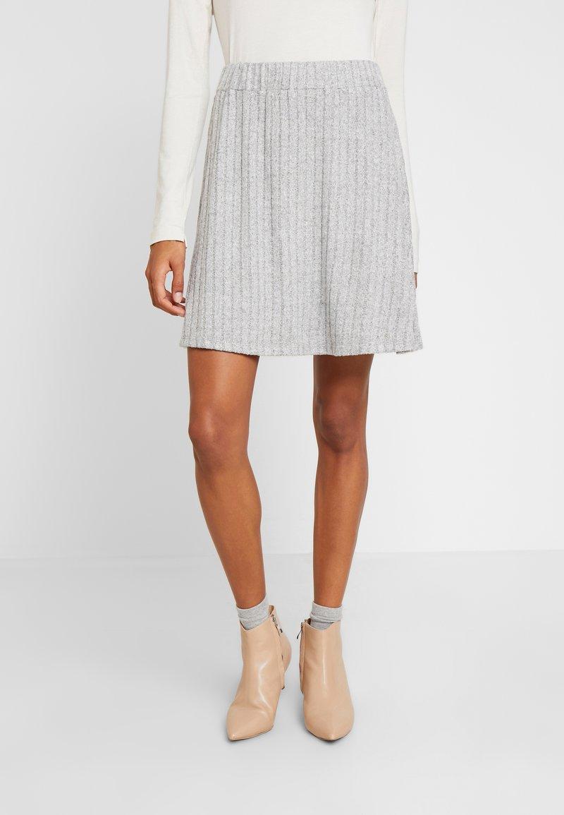 TOM TAILOR DENIM - SKATER SKIRT - A-line skirt - light silver grey mélange