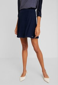 TOM TAILOR DENIM - SKATER SKIRT - A-line skjørt - real navy blue - 0