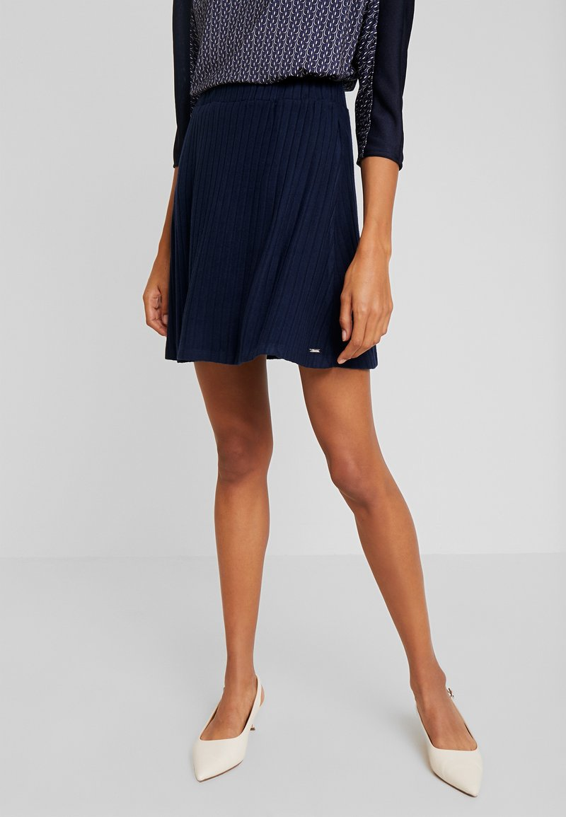TOM TAILOR DENIM - SKATER SKIRT - A-line skjørt - real navy blue