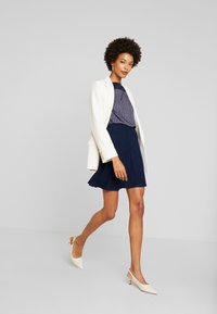 TOM TAILOR DENIM - SKATER SKIRT - A-line skjørt - real navy blue - 1