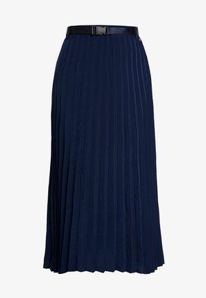 PLISSEÉ MIDI SKIRT - A-line skirt - real navy blue