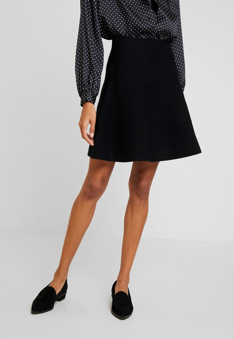 TOM TAILOR DENIM - SKATER SKIRT - A-line skirt - deep black