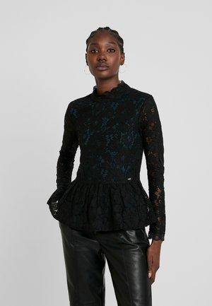 PEPLUM BLOUSE - Blouse - deep black